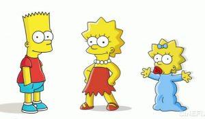 Bart-Lisa-y-Maggie-Los-Simpson